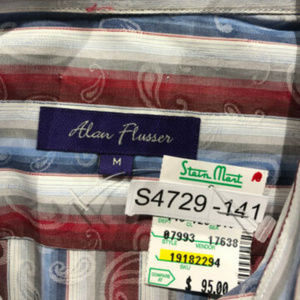 NWT Mens Alan Flusser Medium Striped LS Shirt